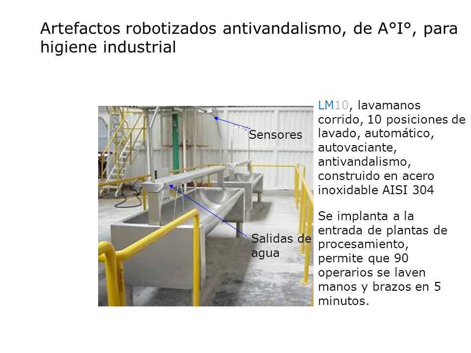 Artefactos robotizados antivandalismo, de A°I°, para higiene industrial
