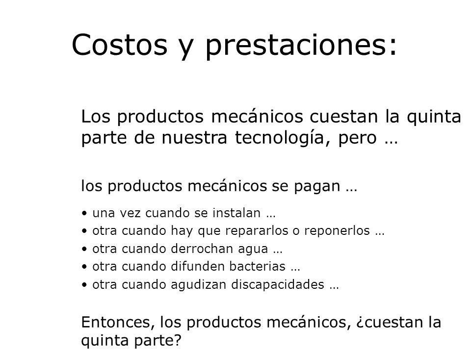 Costos y prestaciones: