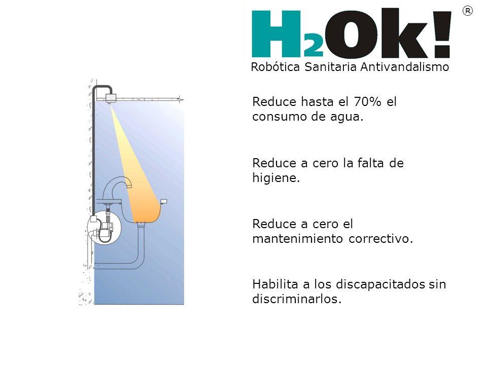 Reduce hasta el 70% el consumo de agua.