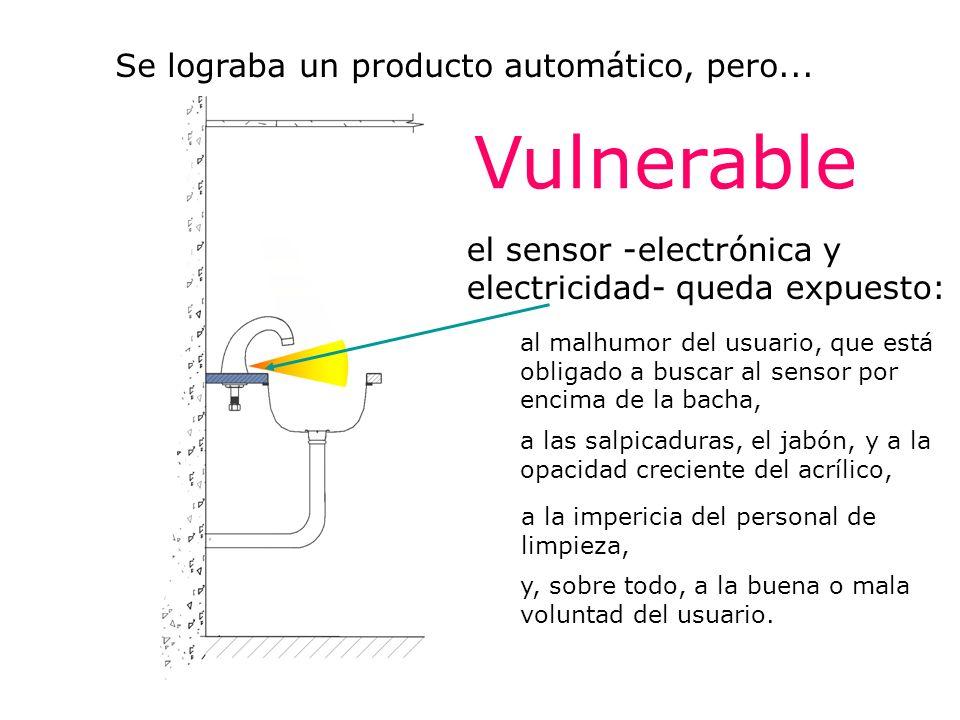 Vulnerable Se lograba un producto automático, pero...