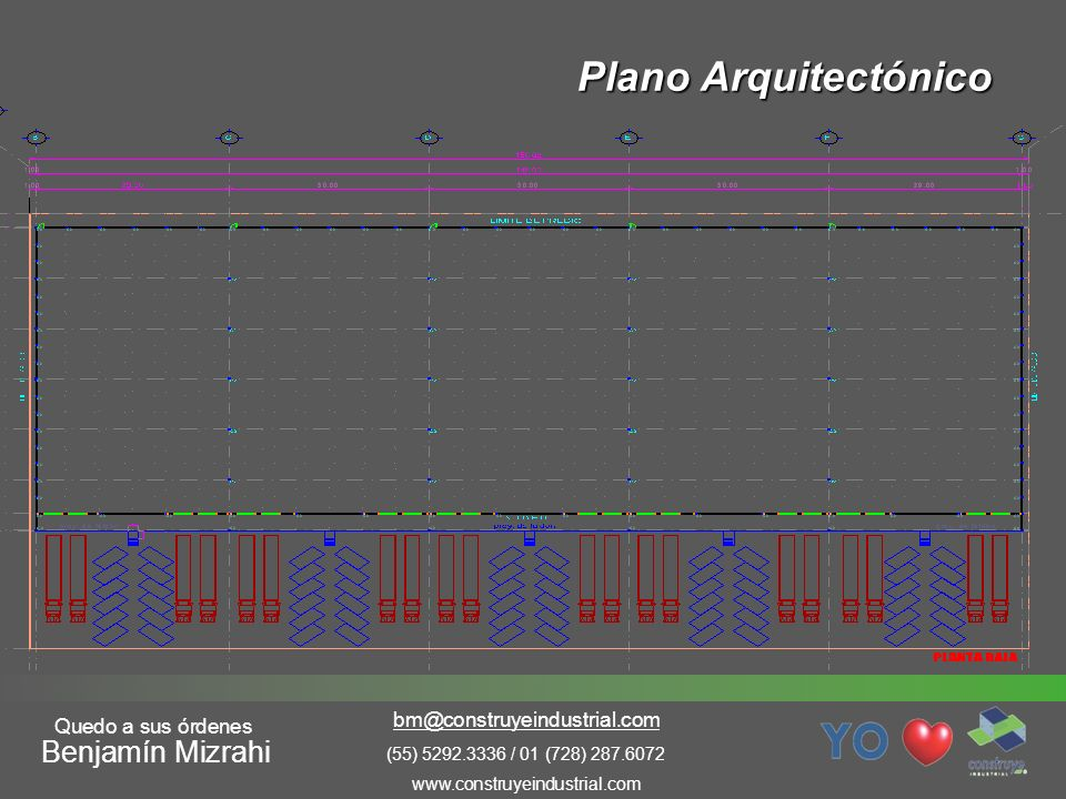 Plano Arquitectónico Benjamín Mizrahi bm@construyeindustrial.com