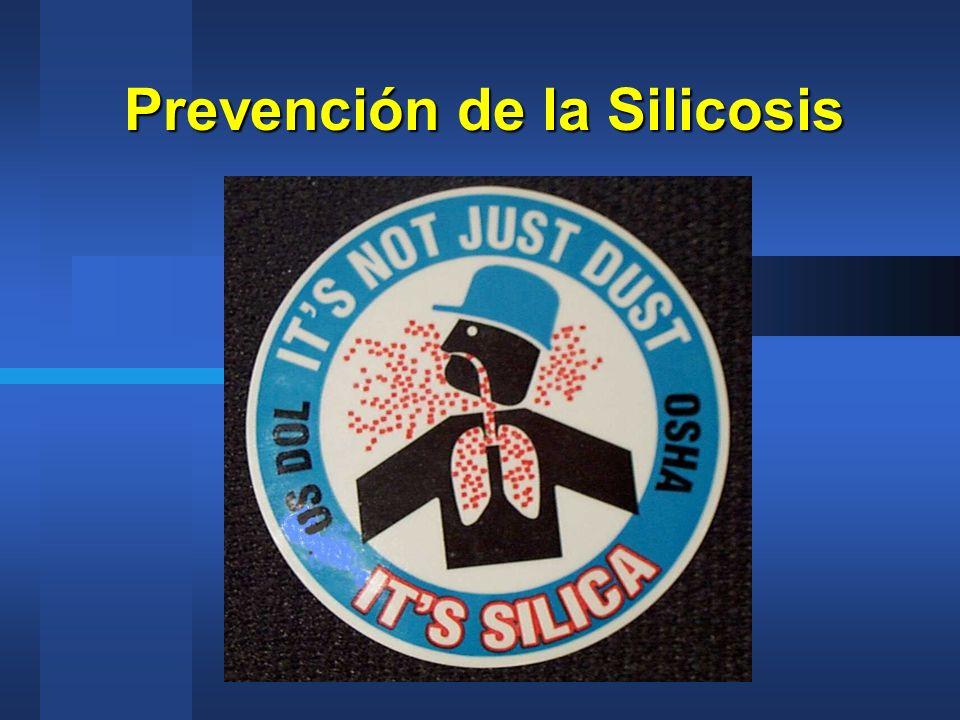 Prevención de la Silicosis
