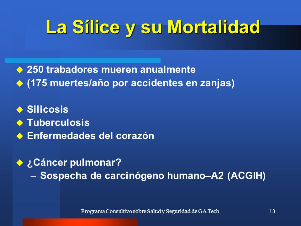 La Sílice y su Mortalidad