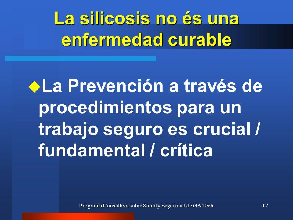 La silicosis no és una enfermedad curable