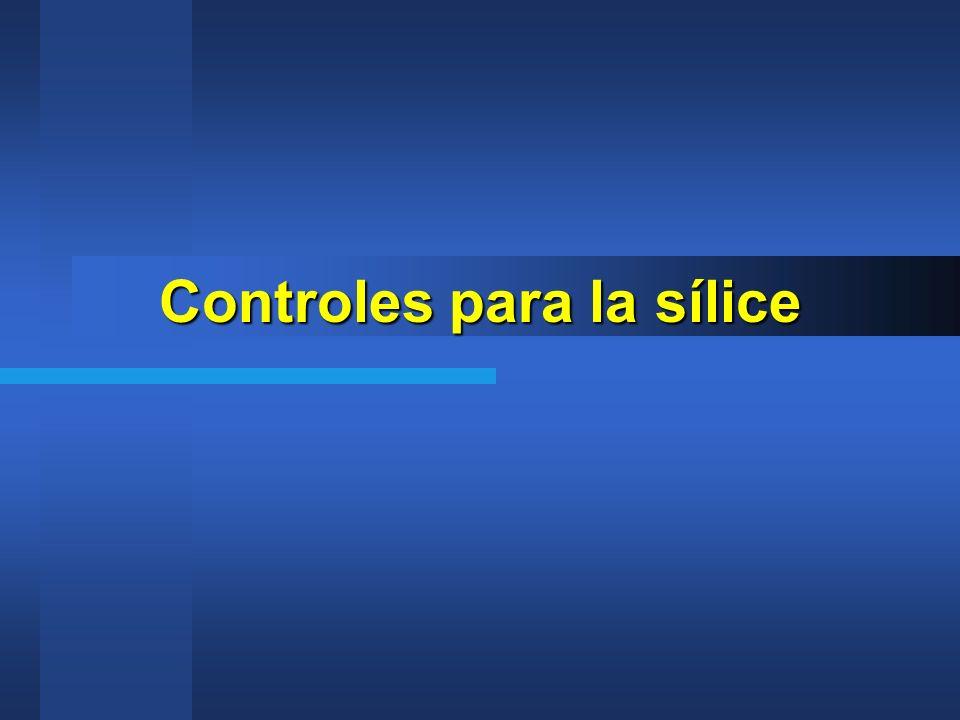 Controles para la sílice