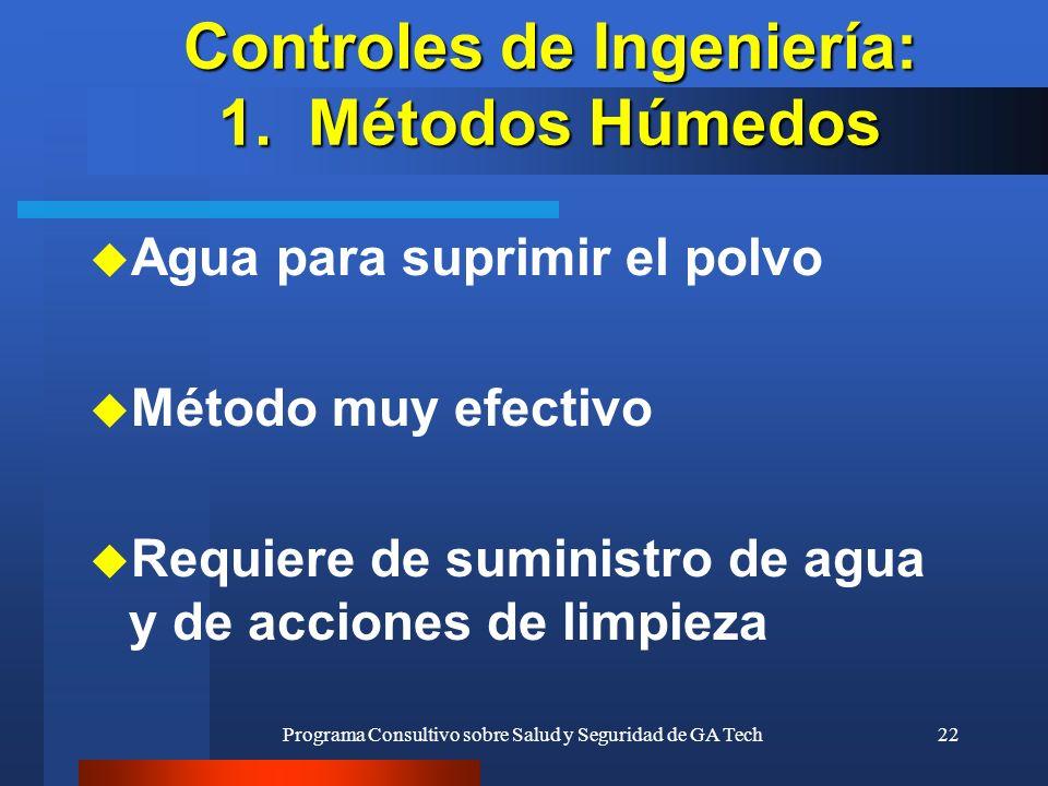 Controles de Ingeniería: 1. Métodos Húmedos