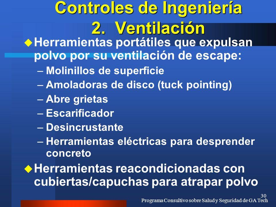 Controles de Ingeniería 2. Ventilación