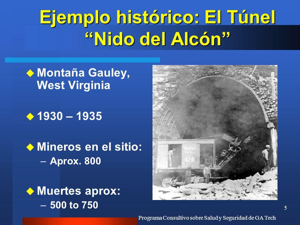 Ejemplo histórico: El Túnel Nido del Alcón