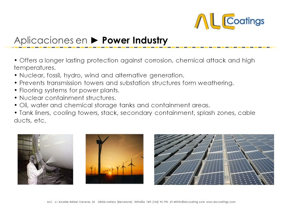 Aplicaciones en ► Power Industry
