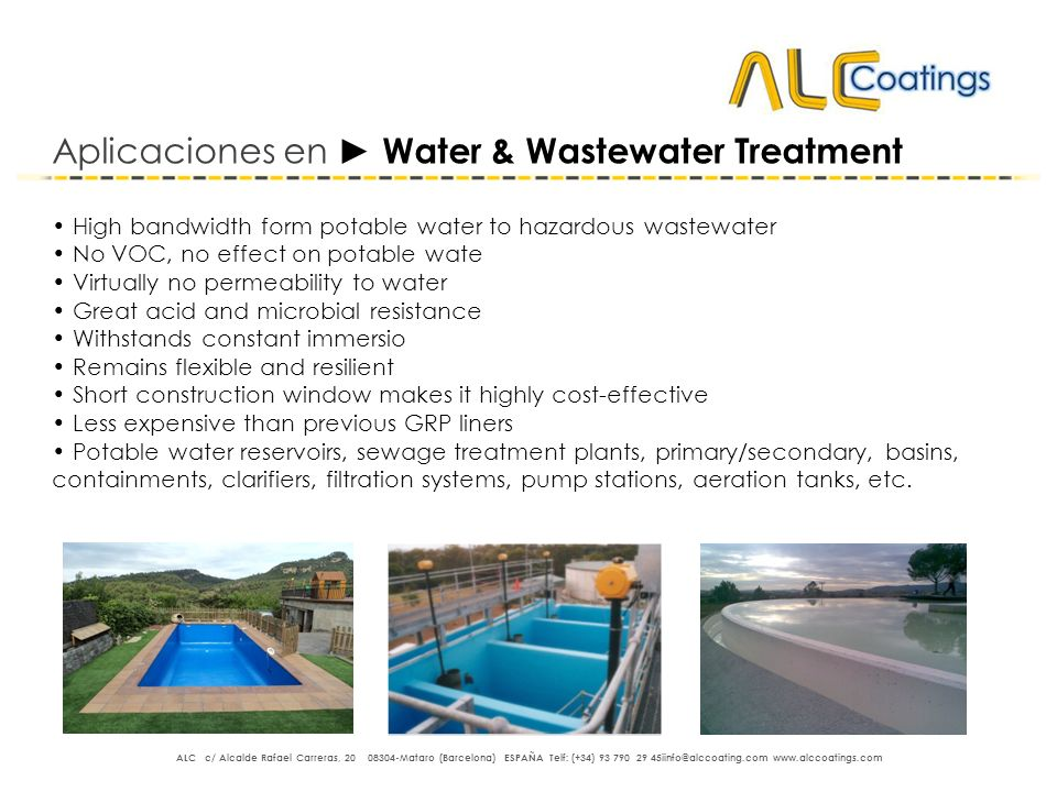 Aplicaciones en ► Water & Wastewater Treatment