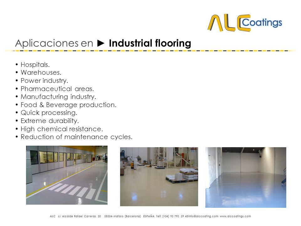 Aplicaciones en ► Industrial flooring