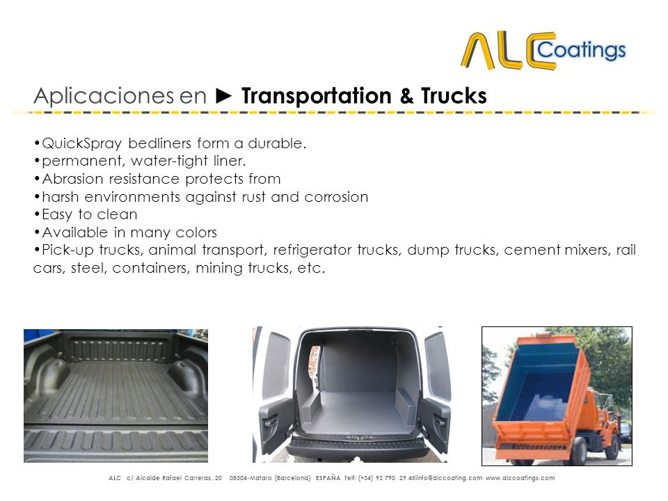 Aplicaciones en ► Transportation & Trucks