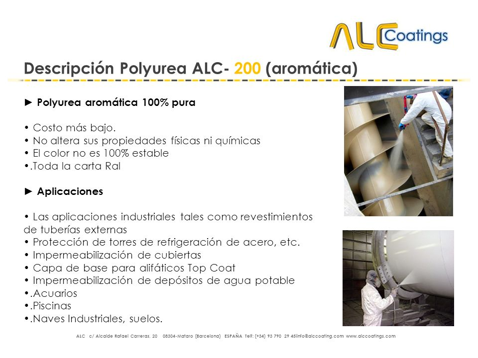 Descripción Polyurea ALC- 200 (aromática)