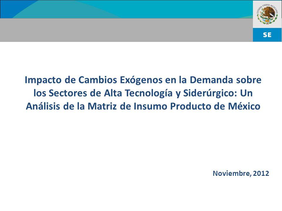 Impacto de Cambios Exógenos en la Demanda sobre los Sectores de Alta Tecnología y Siderúrgico: Un Análisis de la Matriz de Insumo Producto de México