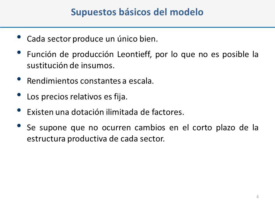 Supuestos básicos del modelo