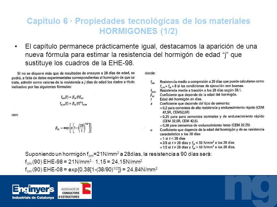 Capítulo 6 · Propiedades tecnológicas de los materiales HORMIGONES (1/2)