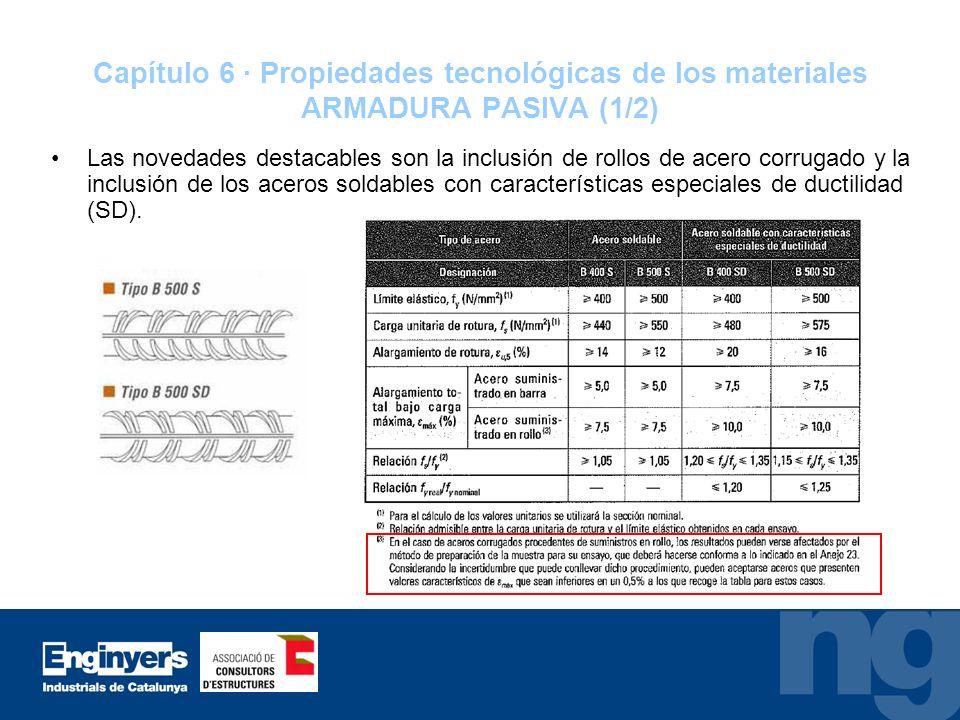 Capítulo 6 · Propiedades tecnológicas de los materiales ARMADURA PASIVA (1/2)