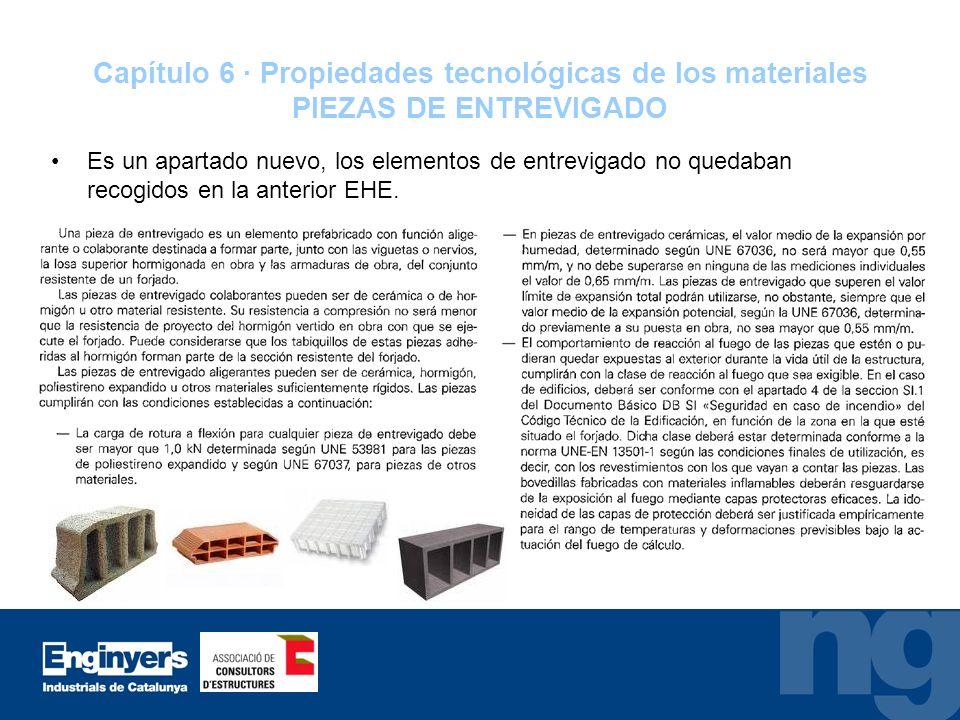 Capítulo 6 · Propiedades tecnológicas de los materiales PIEZAS DE ENTREVIGADO