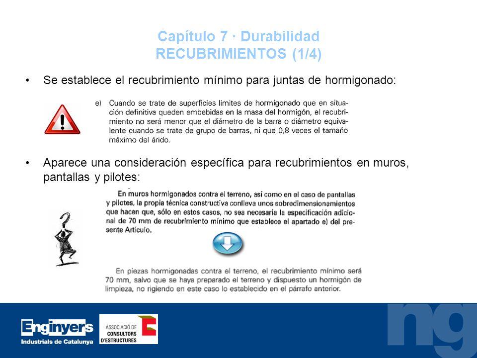Capítulo 7 · Durabilidad RECUBRIMIENTOS (1/4)