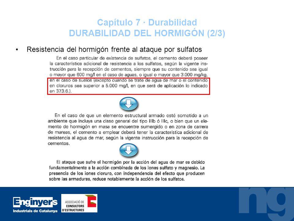 Capítulo 7 · Durabilidad DURABILIDAD DEL HORMIGÓN (2/3)