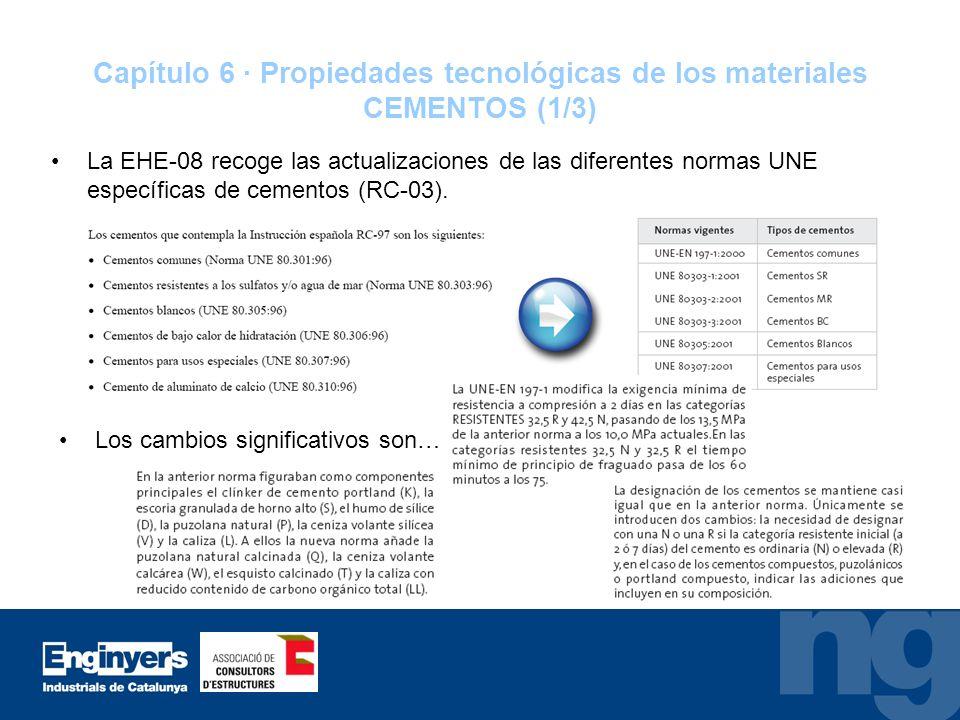 Capítulo 6 · Propiedades tecnológicas de los materiales CEMENTOS (1/3)