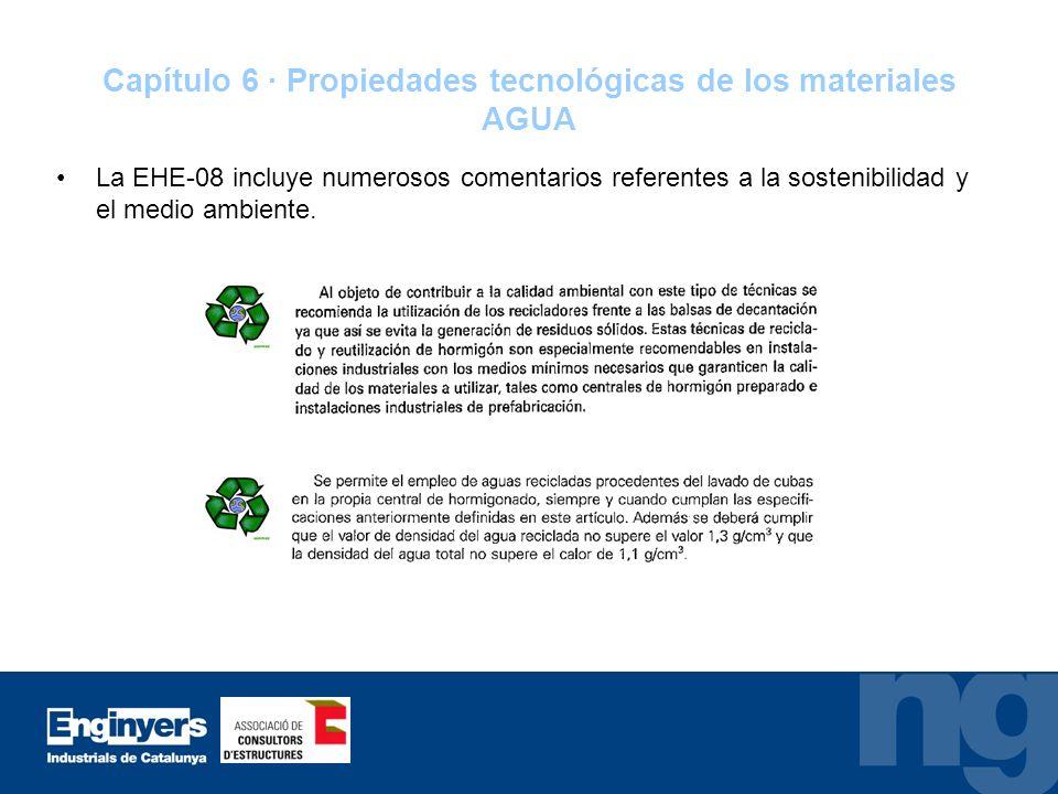 Capítulo 6 · Propiedades tecnológicas de los materiales AGUA