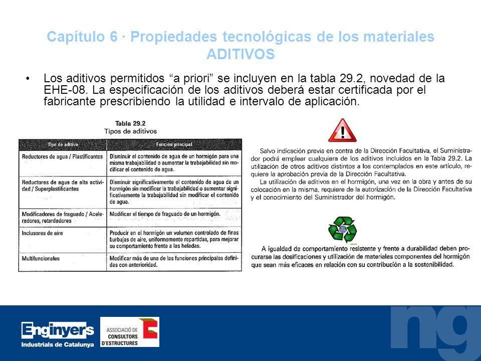 Capítulo 6 · Propiedades tecnológicas de los materiales ADITIVOS
