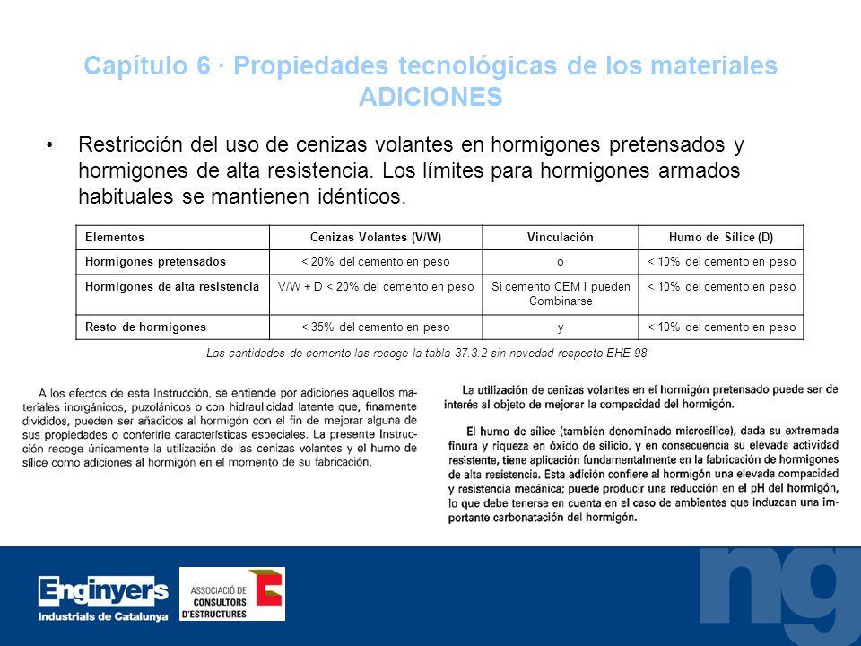 Capítulo 6 · Propiedades tecnológicas de los materiales ADICIONES