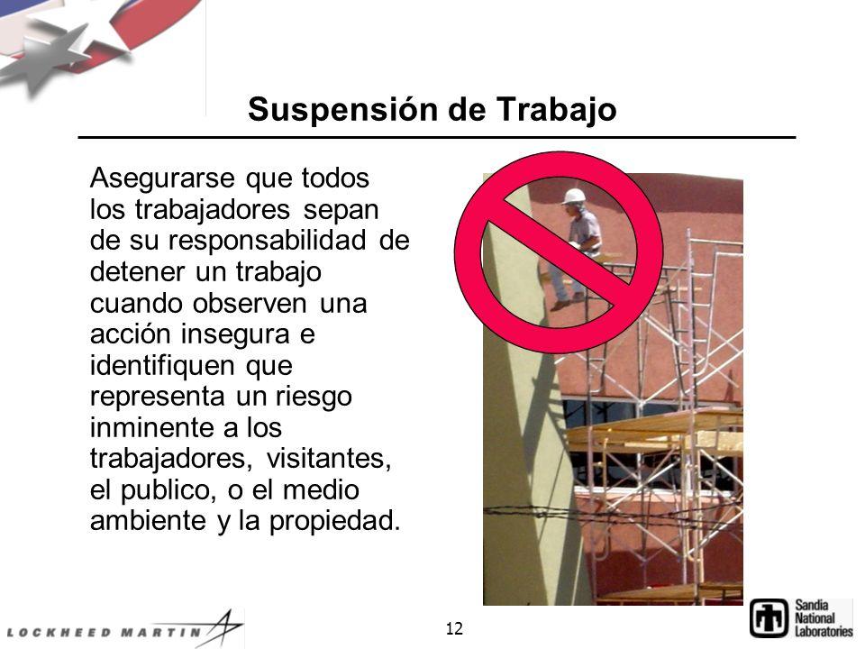 Suspensión de Trabajo