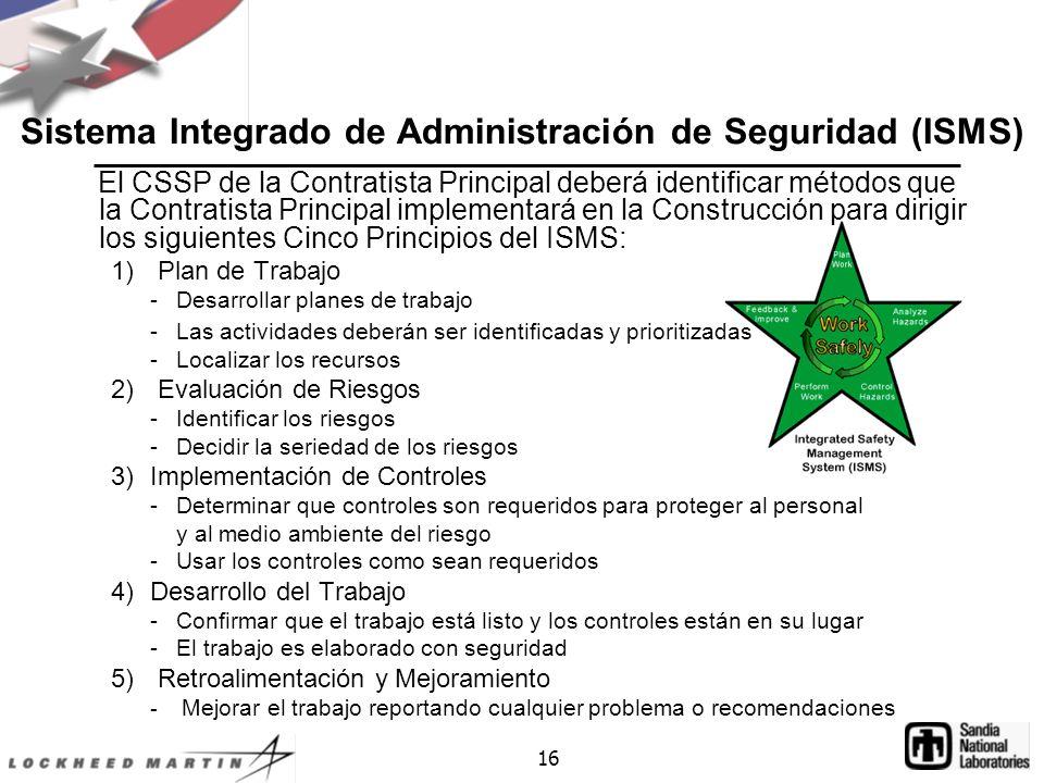 Sistema Integrado de Administración de Seguridad (ISMS)