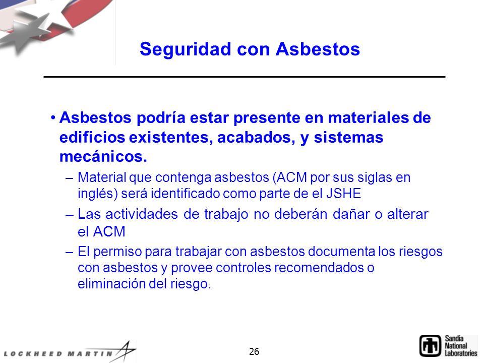 Seguridad con Asbestos
