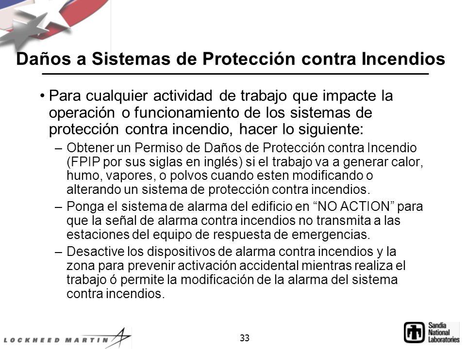 Daños a Sistemas de Protección contra Incendios