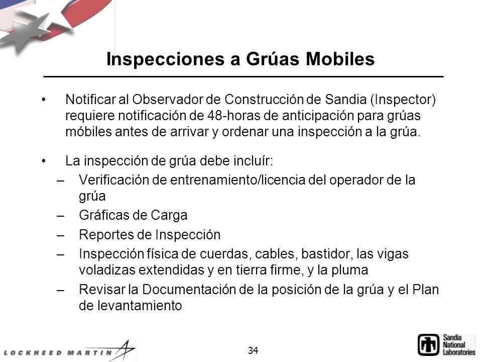 Inspecciones a Grúas Mobiles