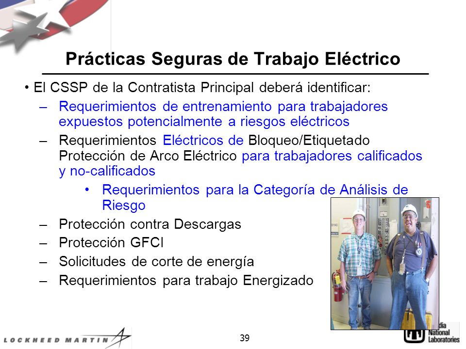 Prácticas Seguras de Trabajo Eléctrico