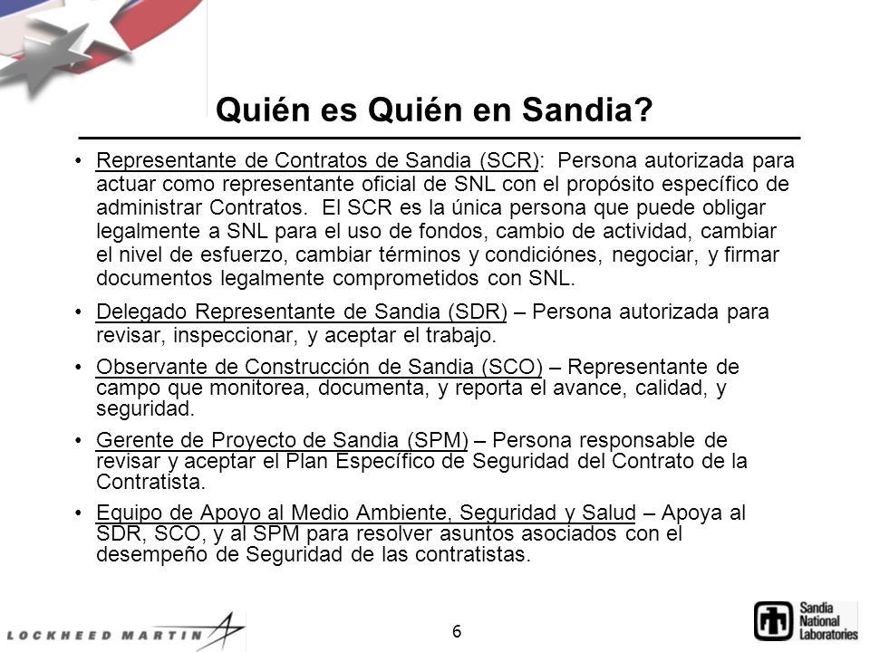 Quién es Quién en Sandia