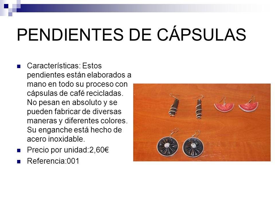 PENDIENTES DE CÁPSULAS