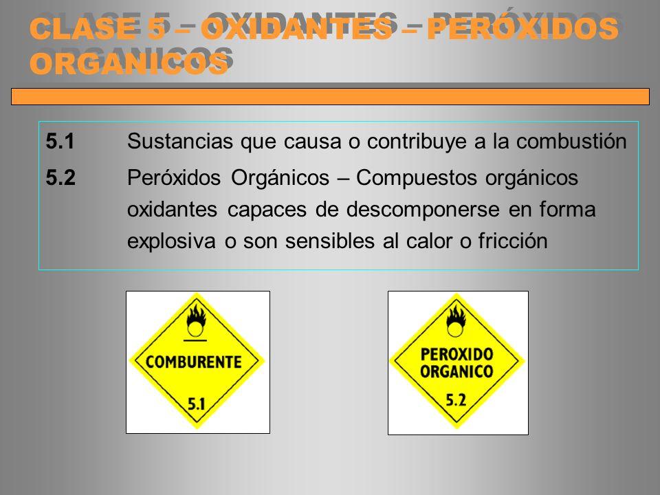 CLASE 5 – OXIDANTES – PERÓXIDOS ORGANICOS