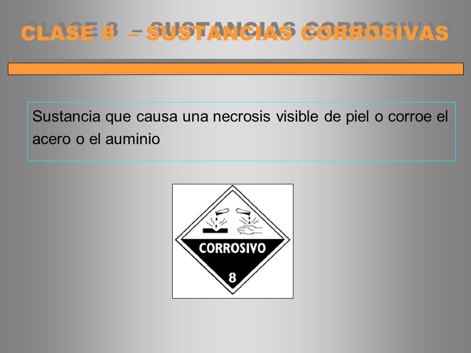 CLASE 8 – SUSTANCIAS CORROSIVAS