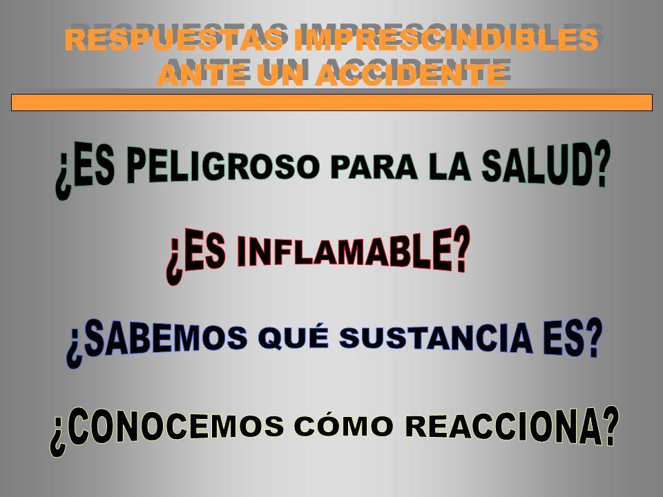 RESPUESTAS IMPRESCINDIBLES ANTE UN ACCIDENTE