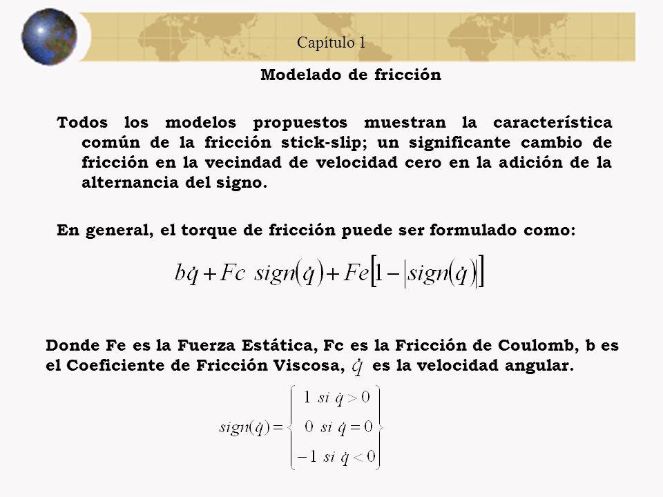 Capítulo 1 Modelado de fricción.