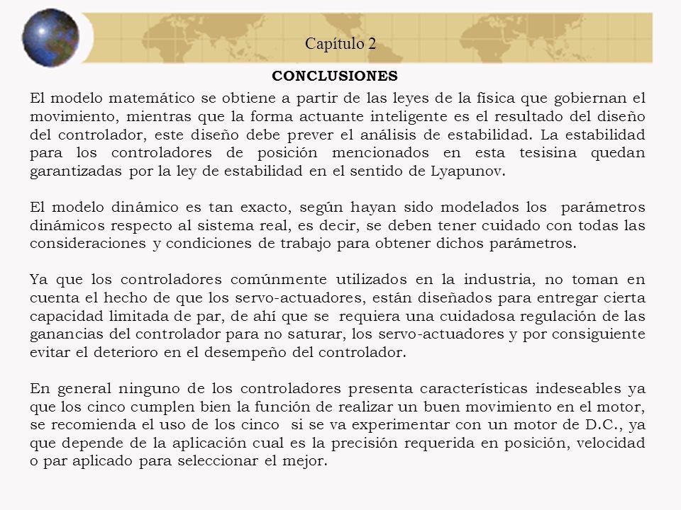 Capítulo 2 CONCLUSIONES