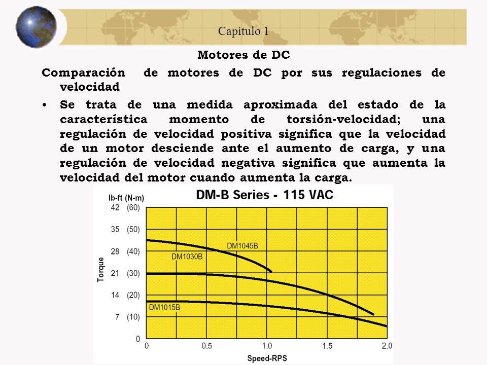 Capítulo 1 Motores de DC. Comparación de motores de DC por sus regulaciones de velocidad.
