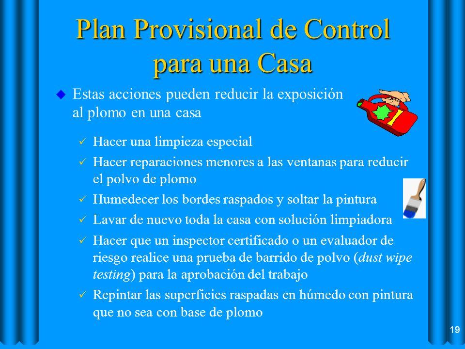 Plan Provisional de Control para una Casa