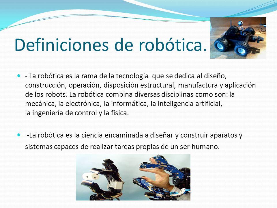 Definiciones de robótica.