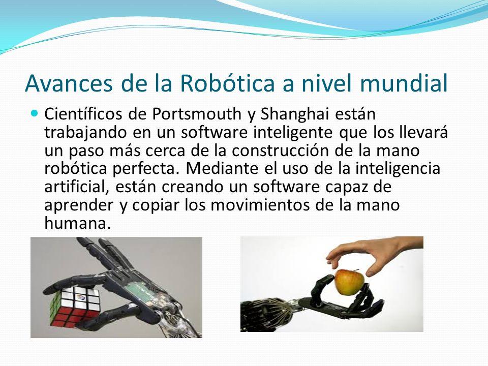 Avances de la Robótica a nivel mundial