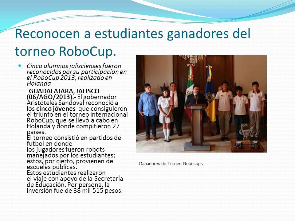 Reconocen a estudiantes ganadores del torneo RoboCup.