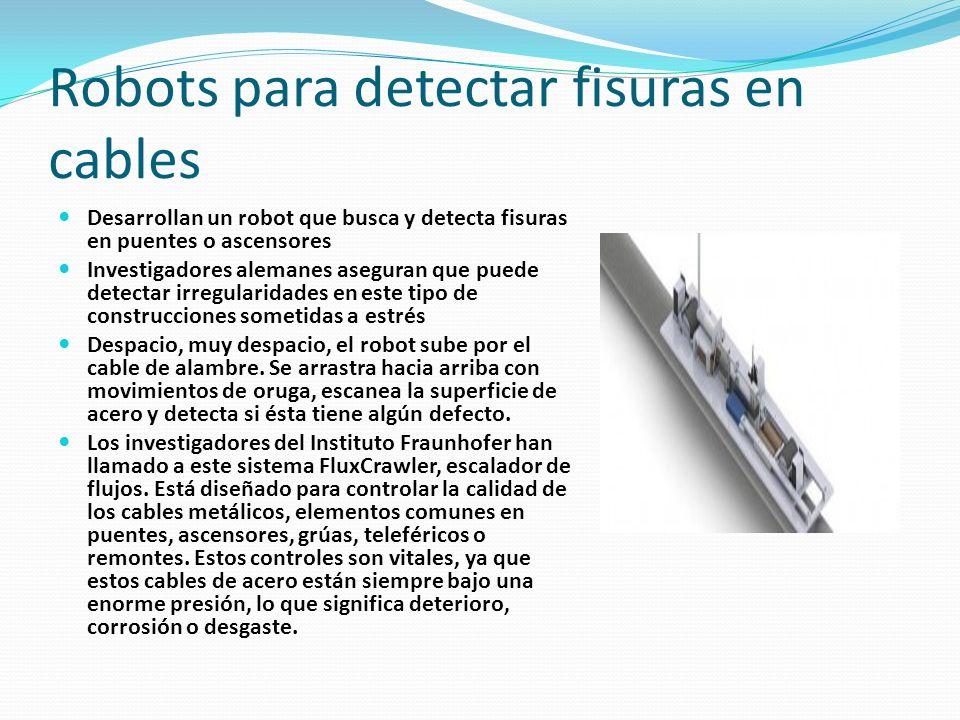 Robots para detectar fisuras en cables