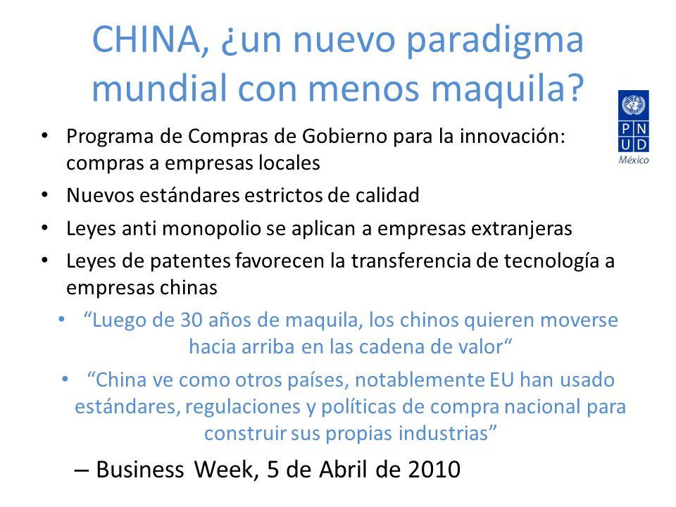 CHINA, ¿un nuevo paradigma mundial con menos maquila