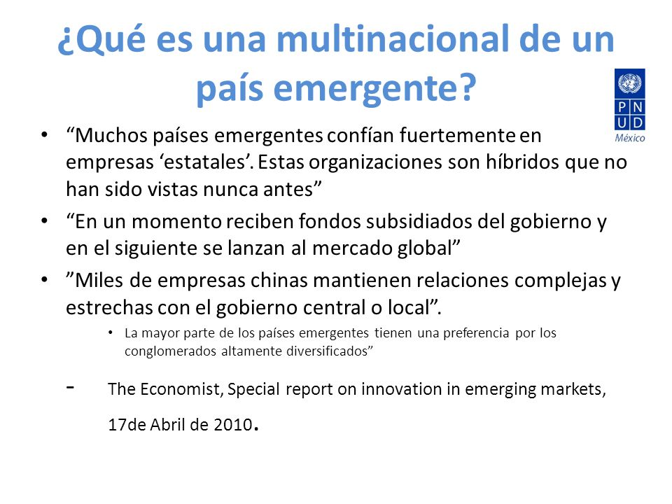 ¿Qué es una multinacional de un país emergente