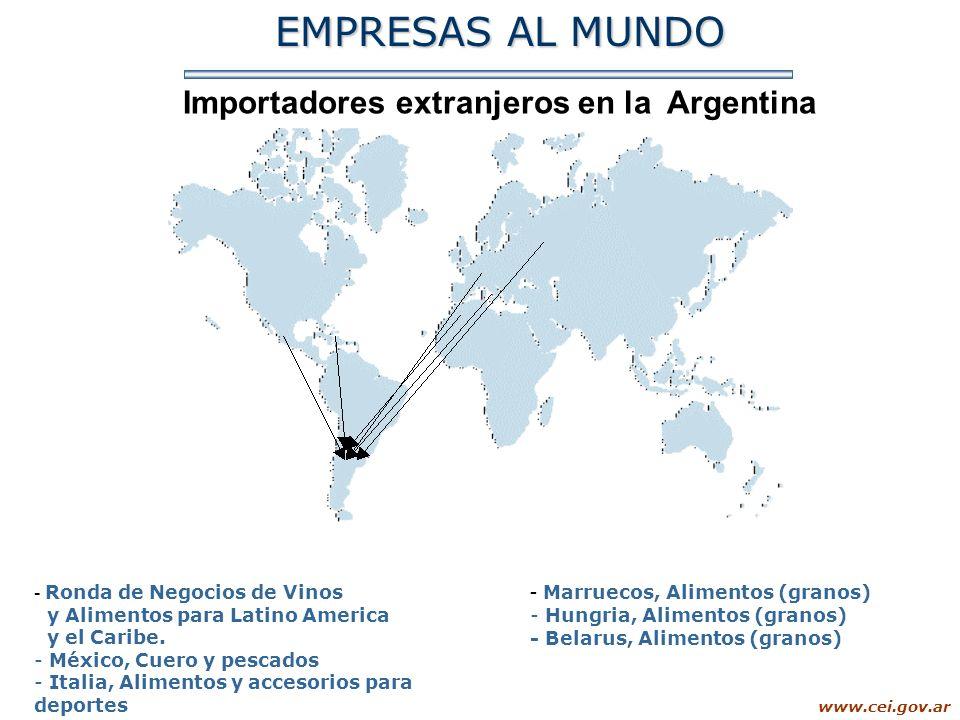 Importadores extranjeros en la Argentina